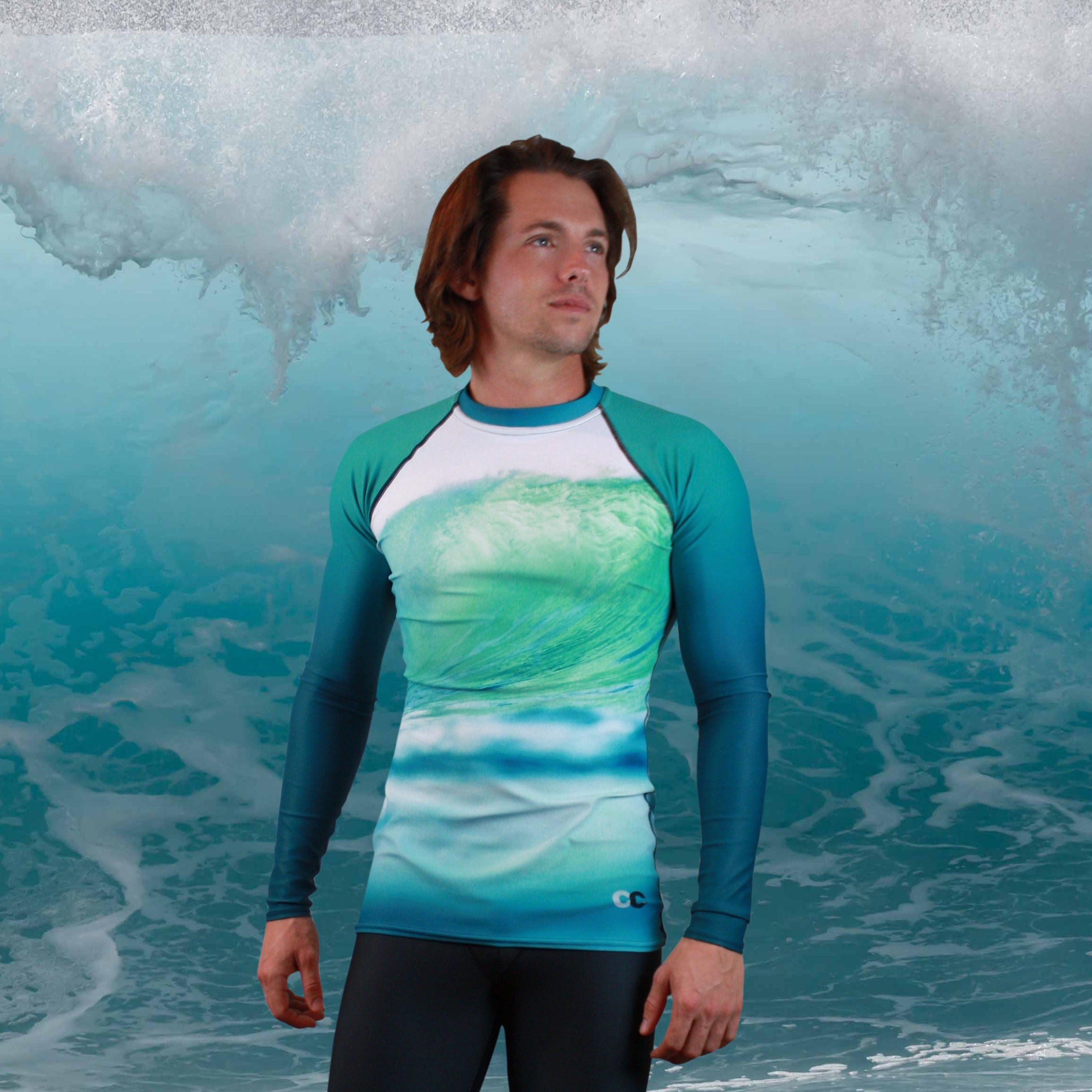 Ocean Wave Men's Rash Guard - Cape Cali