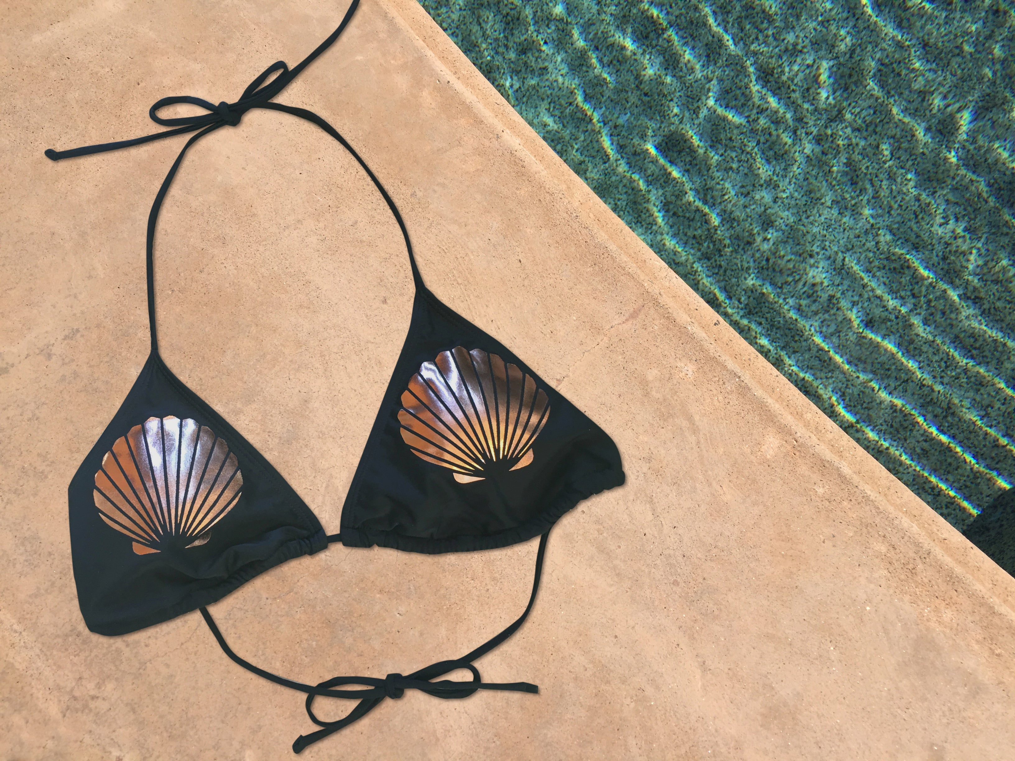 Rose Gold Mermaid Shell Bikini Top - Cape Cali
