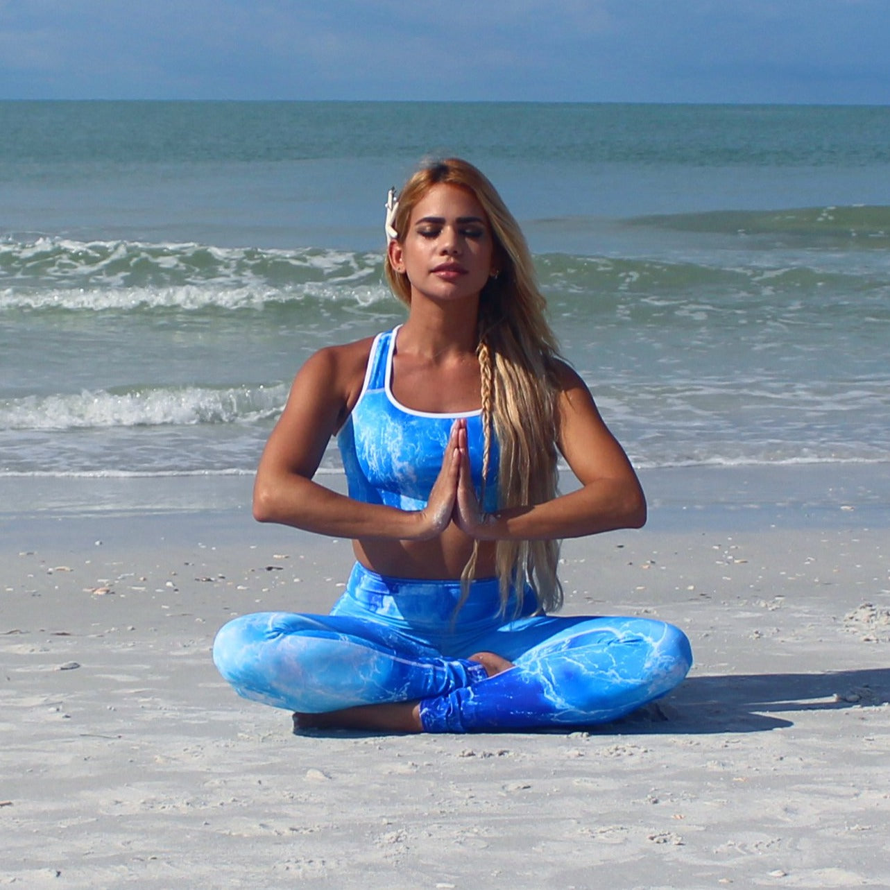 Deep Blue Ocean Yoga Leggings - Cape Cali