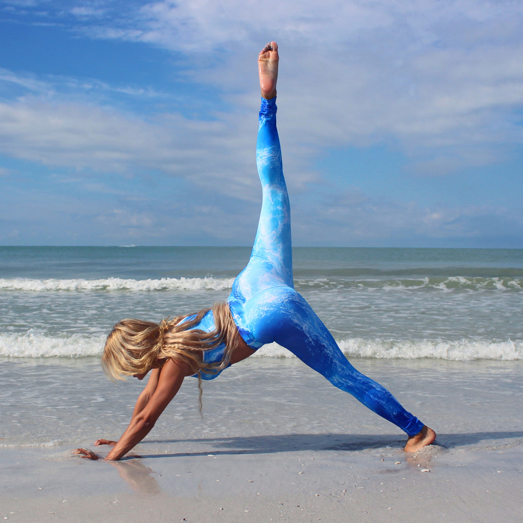 Deep Ocean Yoga Leggings - Cape Cali