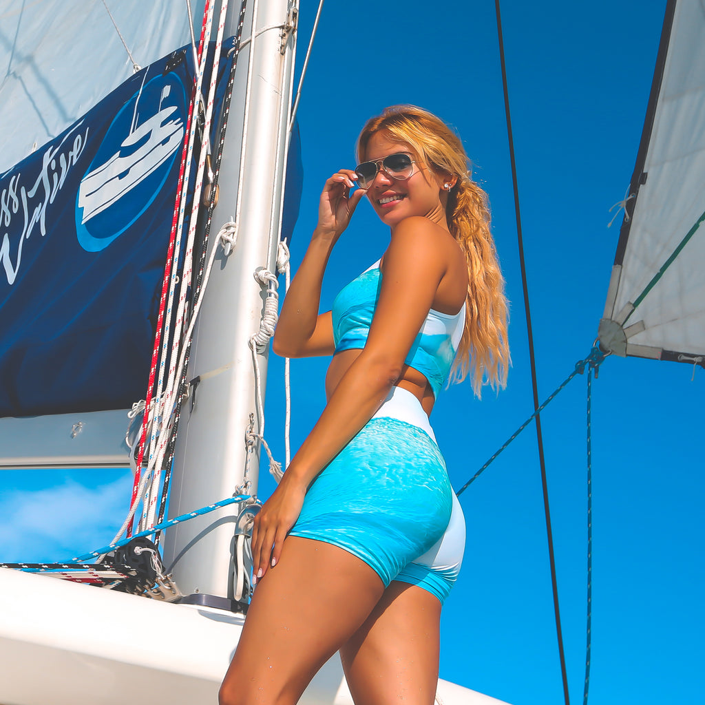 Cape Cali Ocean Wave Shorts