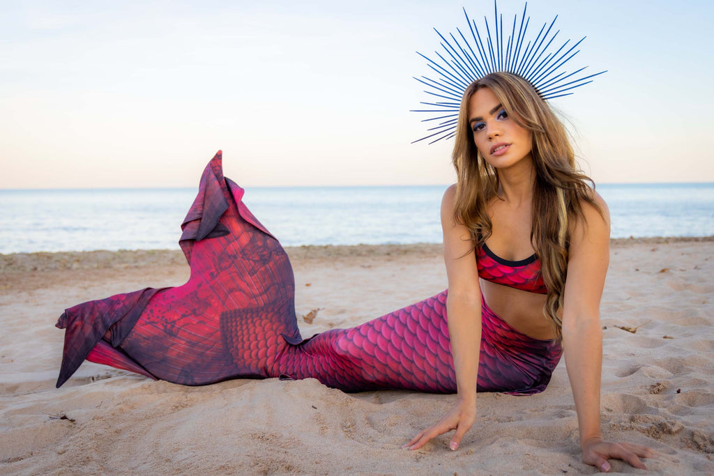 Flame Mermaid Tail - DiveTail by Cape Cali