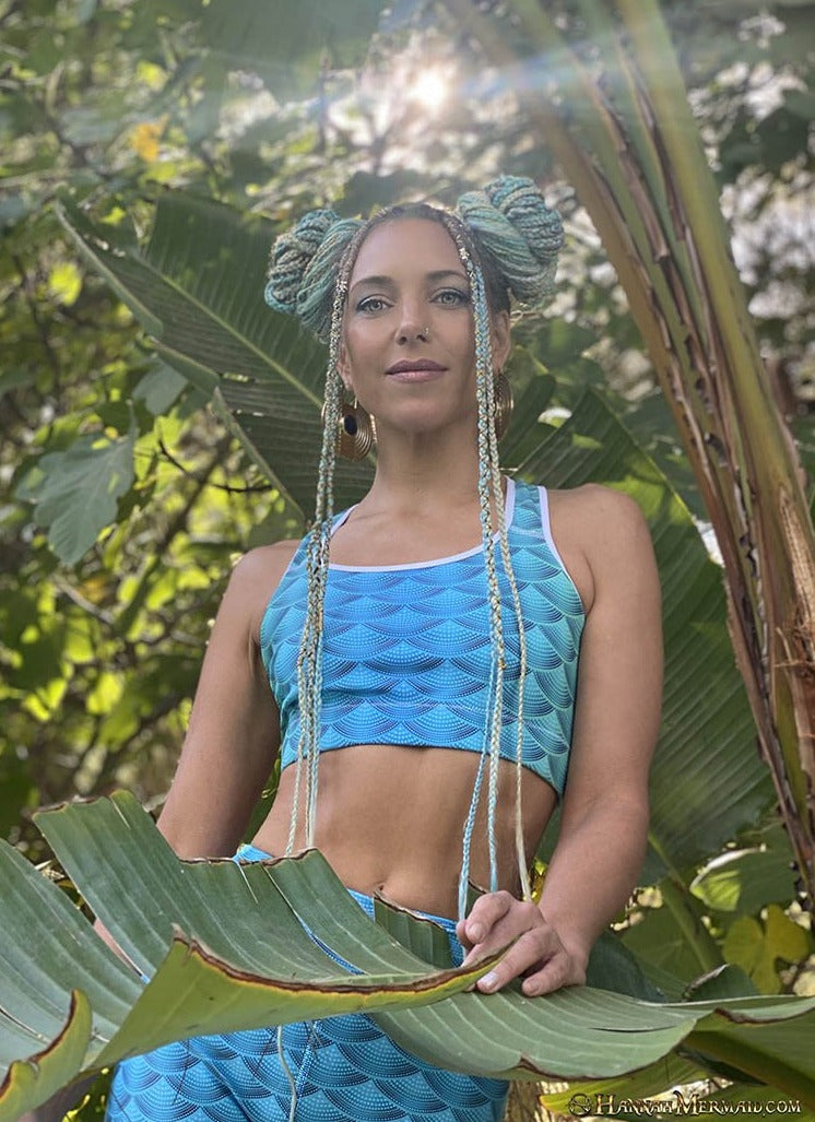 Hannah Mermaid Yoga Top - Bali Scales