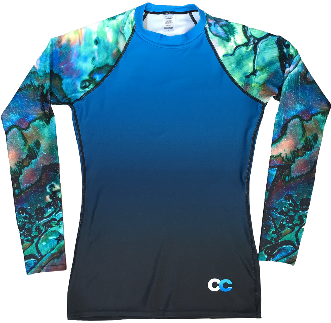 Abalone Shell Men's Rash Guard - Cape Cali
