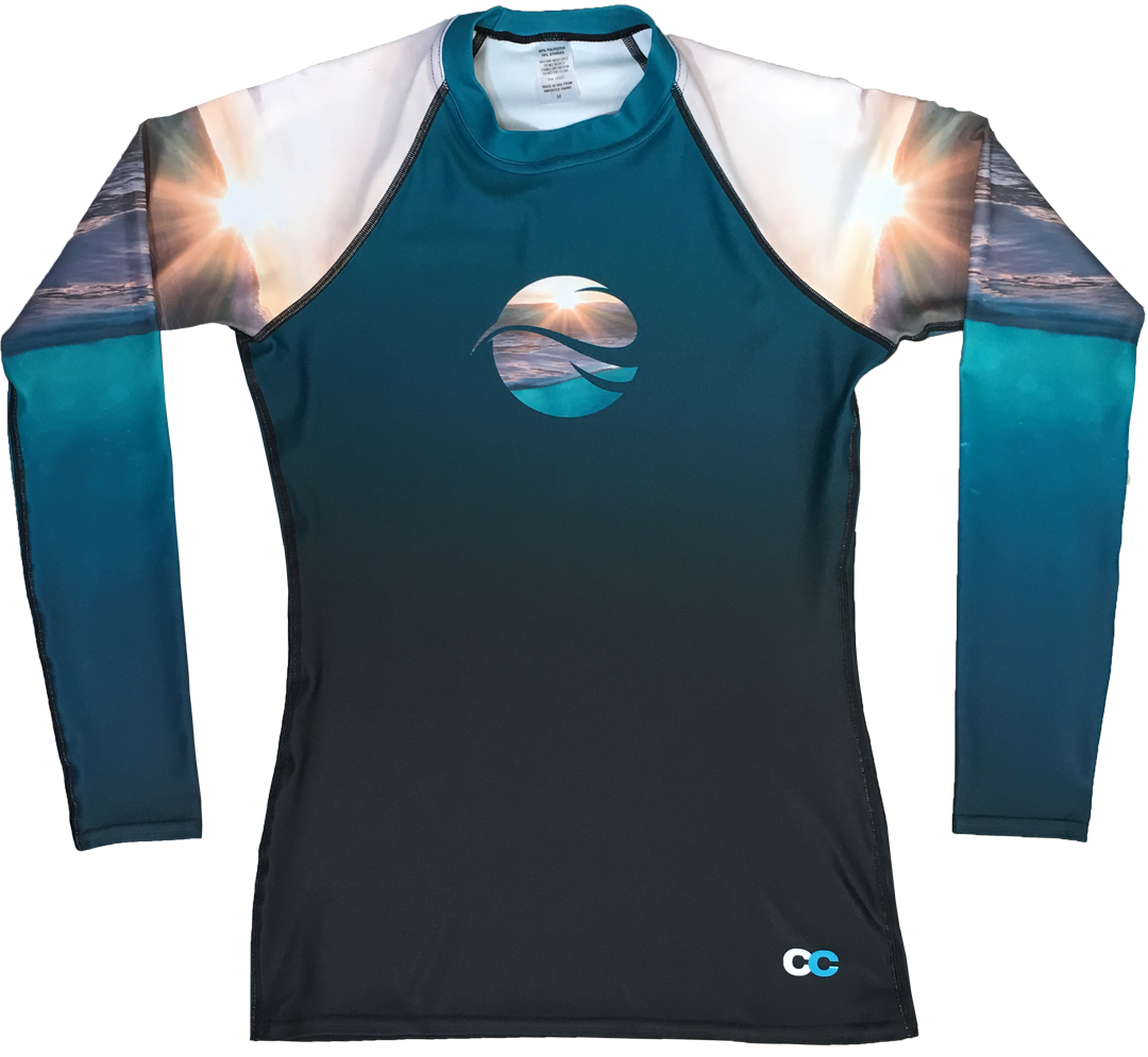 Ocean Sunset Men's Rash Guard - Cape Cali