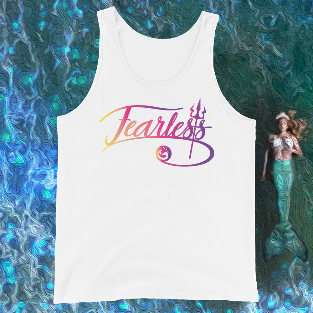 "Mermaid Elle ""Fearless"" Boy Unisex Tank Top - Cape Cali"
