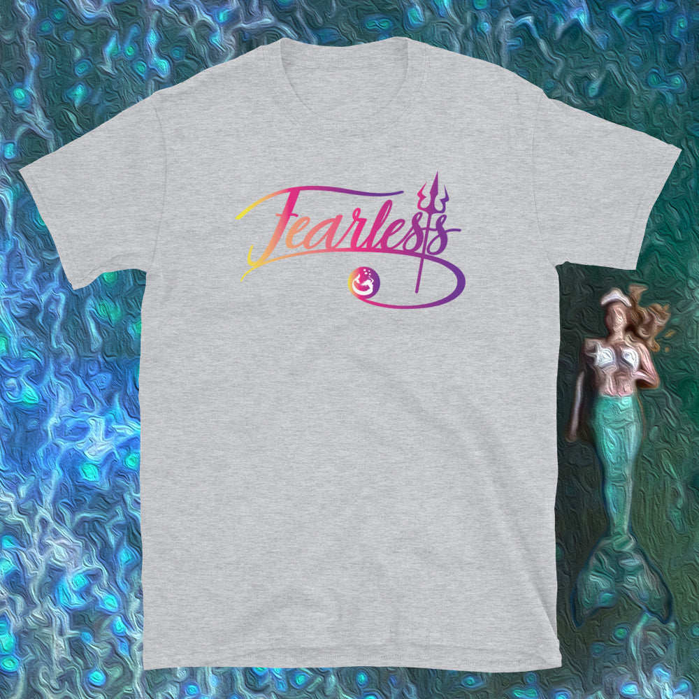 "Mermaid Elle ""Fearless"" Boyfriend Tee - Cape Cali"