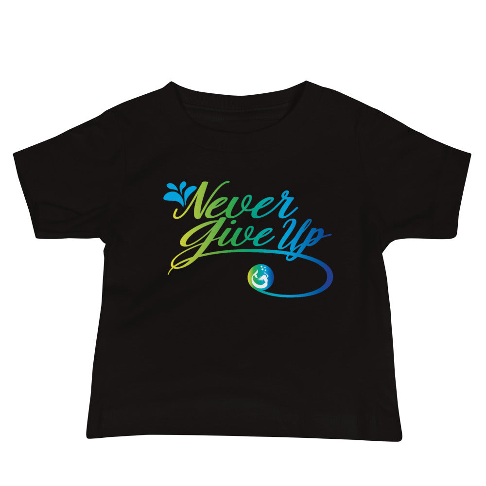 "Mermaid Elle ""Never Give Up"" Baby Tee - Cape Cali"
