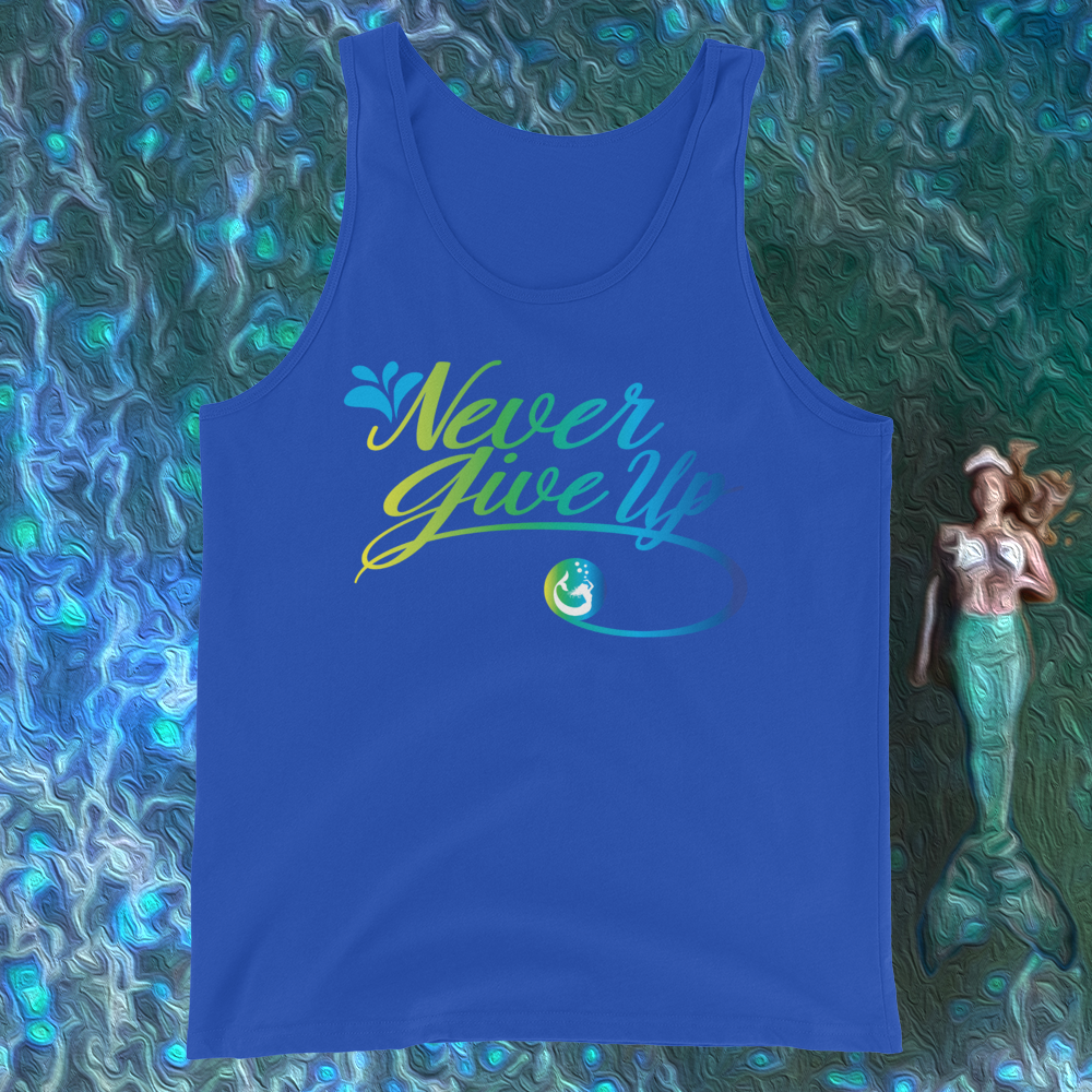 "Mermaid Elle ""Never Give Up"" Unisex Tank Top - Cape Cali"