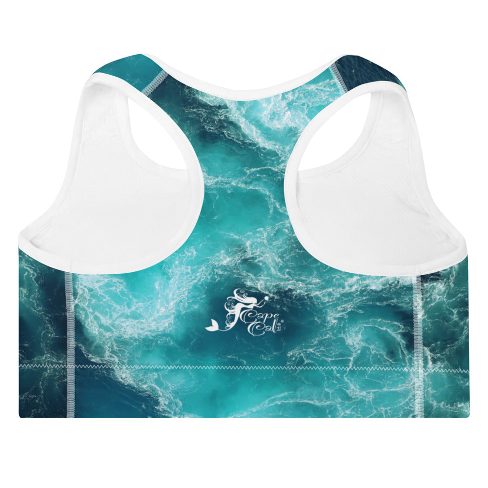 Tranquil Waters Padded Sports Bra - Cape Cali