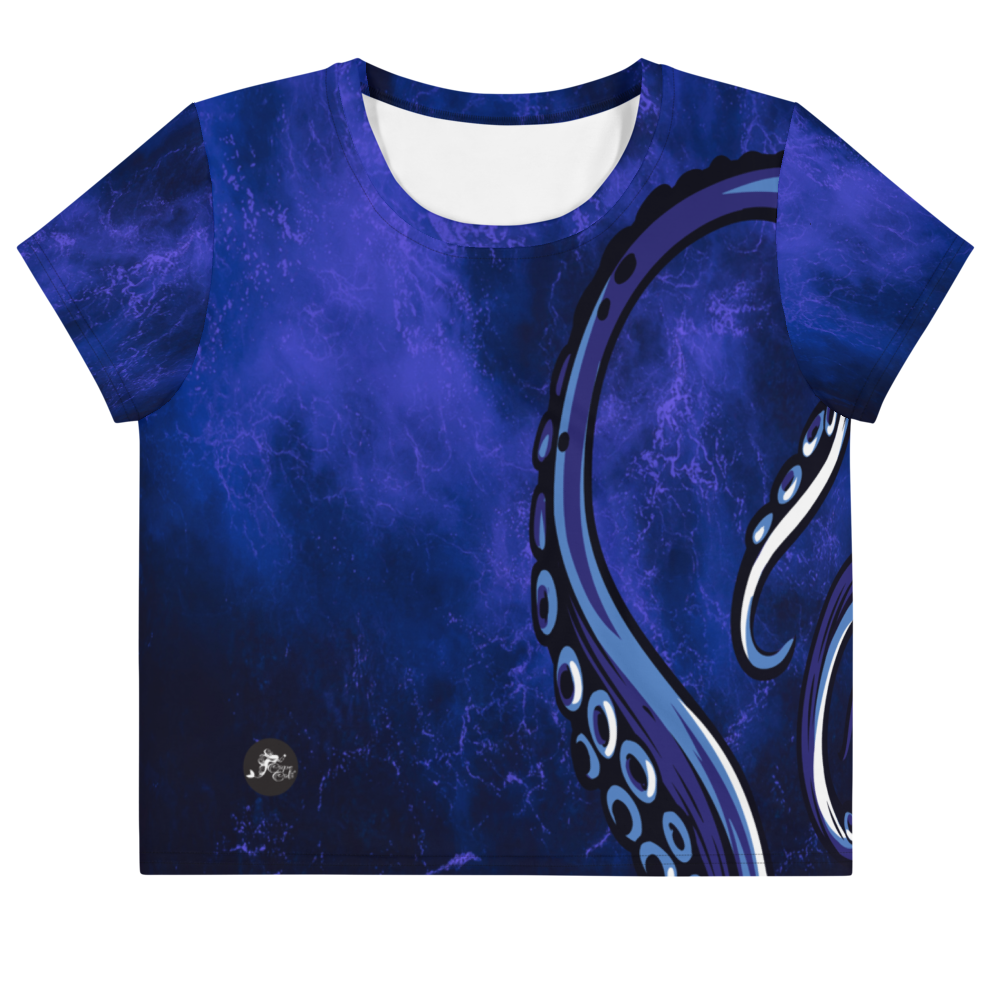 Ursula's Octo Yoga Crop Tee by Cape Cali