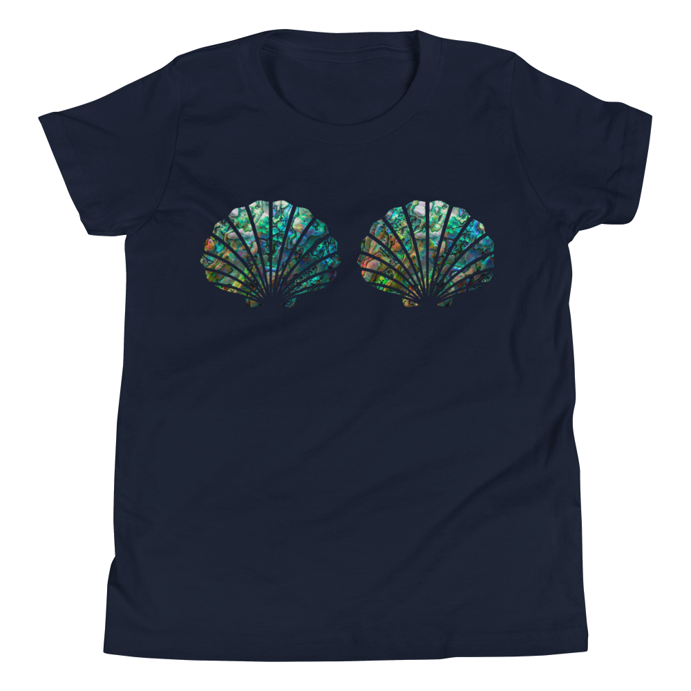 Kid's Abalone Mermaid Shell Top Tee - Cape Cali