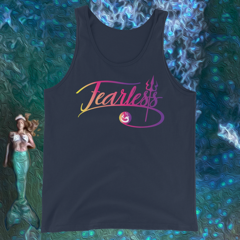 "Mermaid Elle ""Fearless"" Unisex Tank Top - Cape Cali"