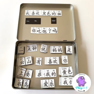 Billingual Chinese magnetic tiles