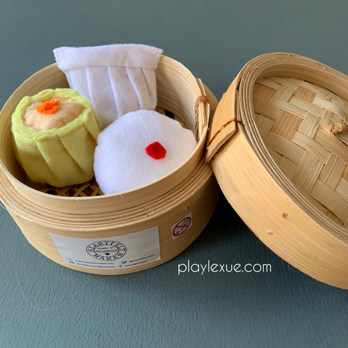 Felt dim sum play set