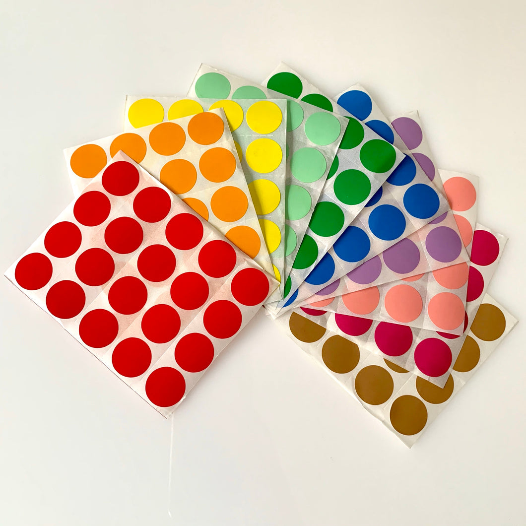 Rainbow dot stickers