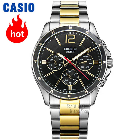 Casio watch for men, water resistant watch