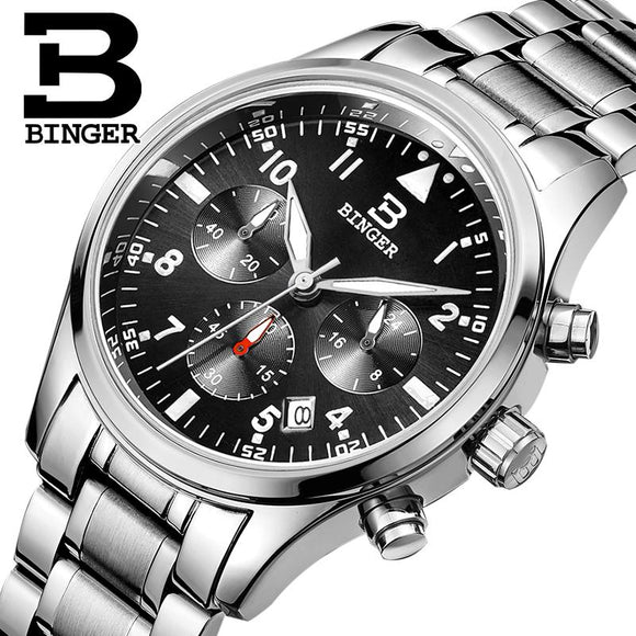 BINGER luxurious men's aquatic watch