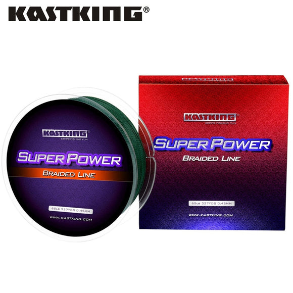 KastKing Brand  New PE Braided Fishing Line 6-80LB 4 Strands 300M 327Yds Multifilament Line