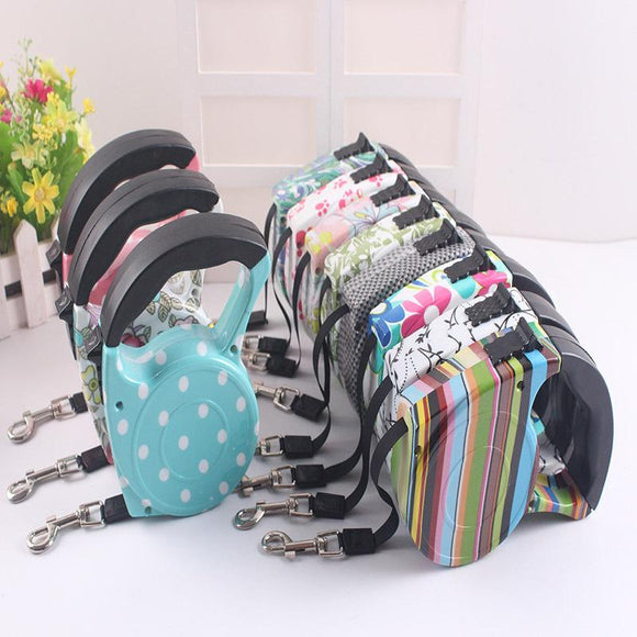 Articles Dog Collar With Automatic Retractable Strap