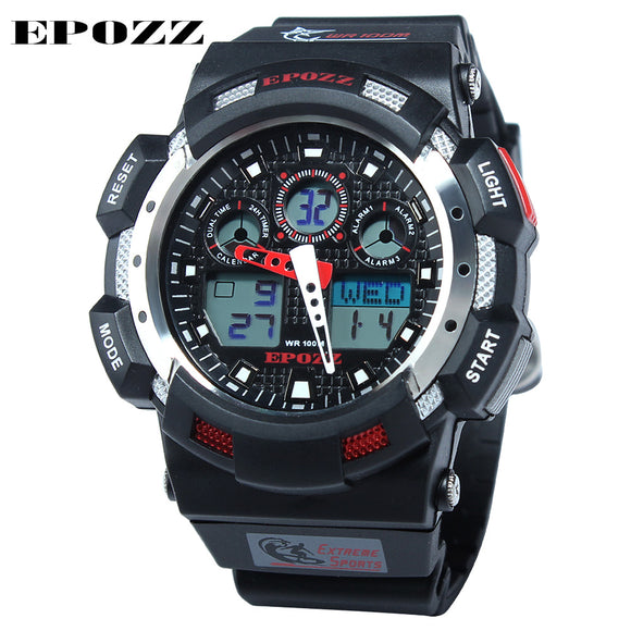 Epozz sports watch for men, calendar, stopwatch, water resistant
