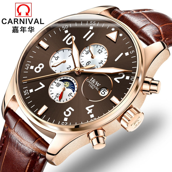 Mechanical watch CARNIVAL, waterproof