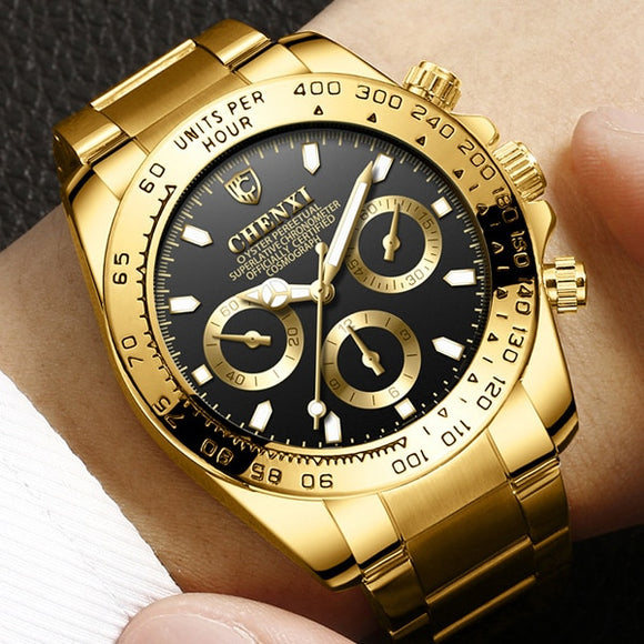 CHENXI Gold Wrist Watch Men Watches Top Brand Luxury famous