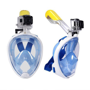 1e4563d33ce6 180 Degree Full Face Snorkel Mask With GoPro Mount – WANTEVO