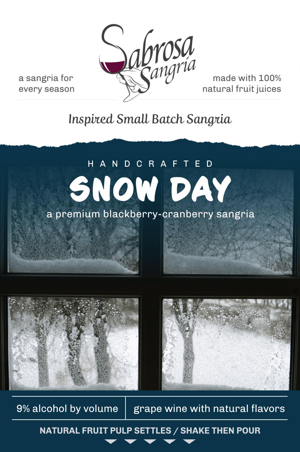 Snow Day Sangria — A Blackberry/Cranberry Sangria