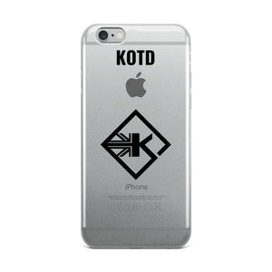 Clear KOTD UK iPhone Case