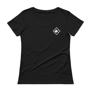 Women's KOTD Diamond Scoopneck T-Shirt (Various Colours)