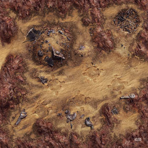 Star Wars Legion Desert Junkyard Game Mat