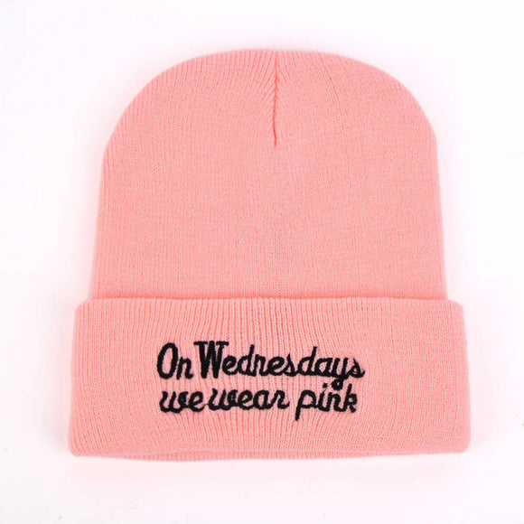 On Wednesday We Wear Pink Beanie - Hype For Hats