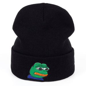 Sad Pepe Beanie - Hype For Hats