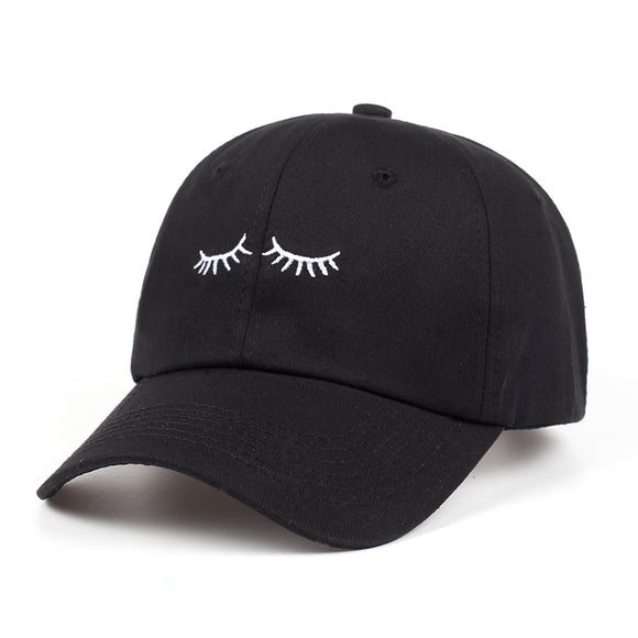 Eyelashes Dad Hat - Hype For Hats
