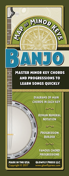 Map of Minor Keys for Banjo