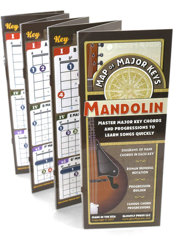 Map of Major Keys for Mandolin