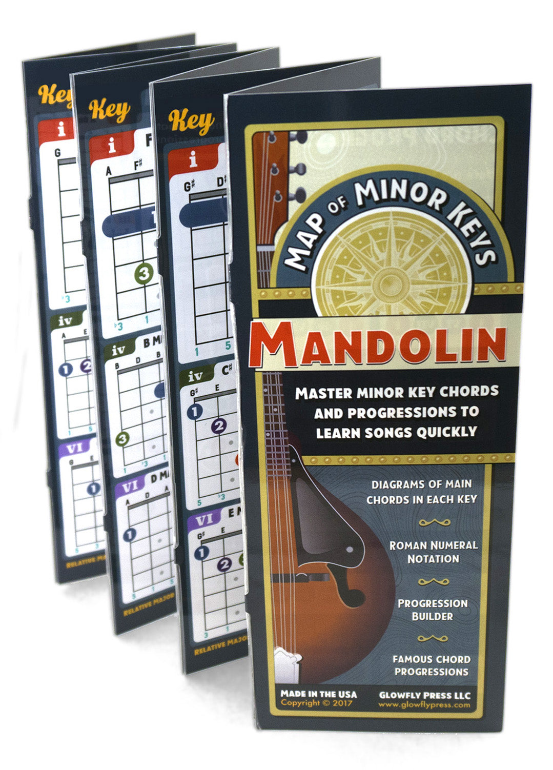 Map of Minor Keys for Mandolin