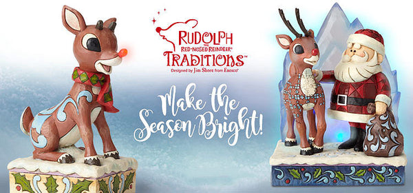 Rudolph Traditions, by Enesco, features new figurines and tree ornaments for 2018.