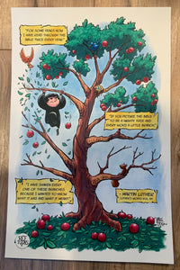Luther Bible Tree Poster