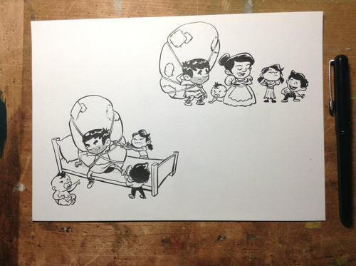 Pilgrim's Progress Original Art - Christian's Family