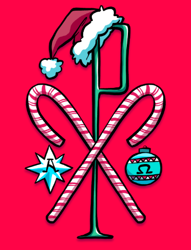 FREE Christmas Chi Rho iPhone Wallpaper