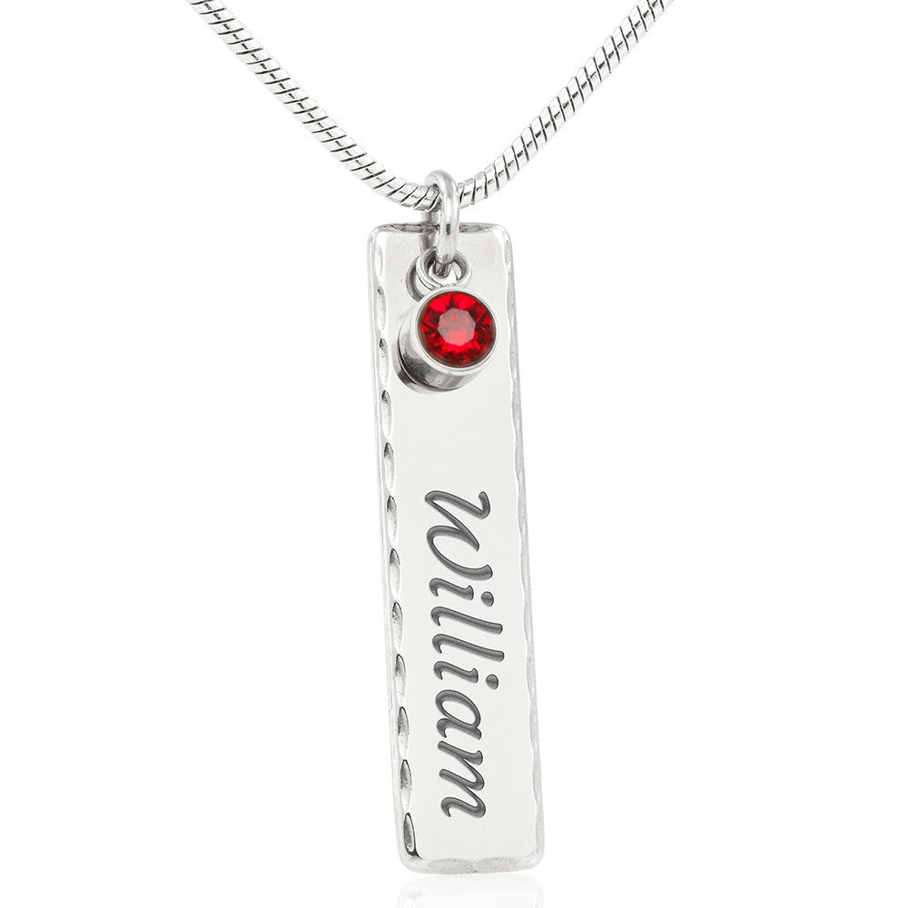 Best Gift - Beautiful Birthstones & Name Plate Pendant