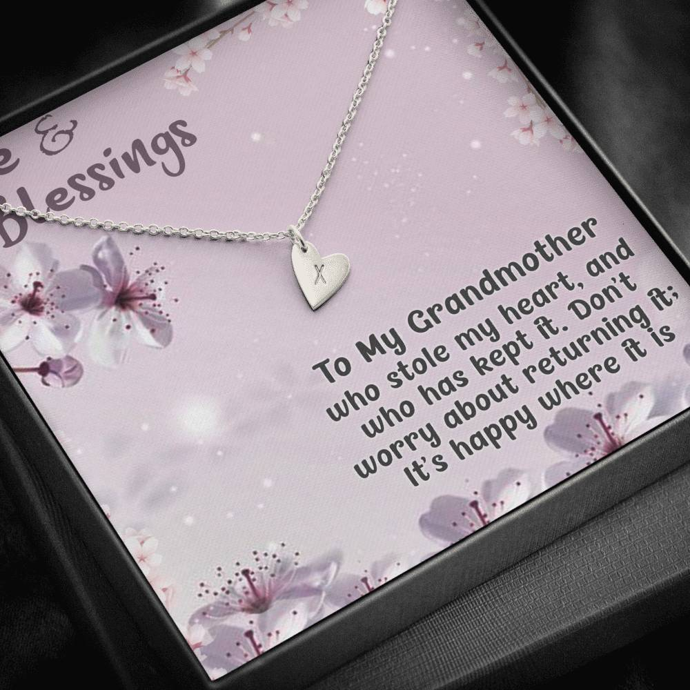 Gift for Grandmother - Sweetest Hearts Necklace
