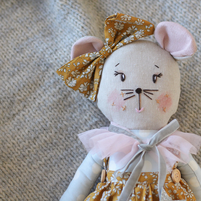 Melody Mouse Handmade Heirloom Doll