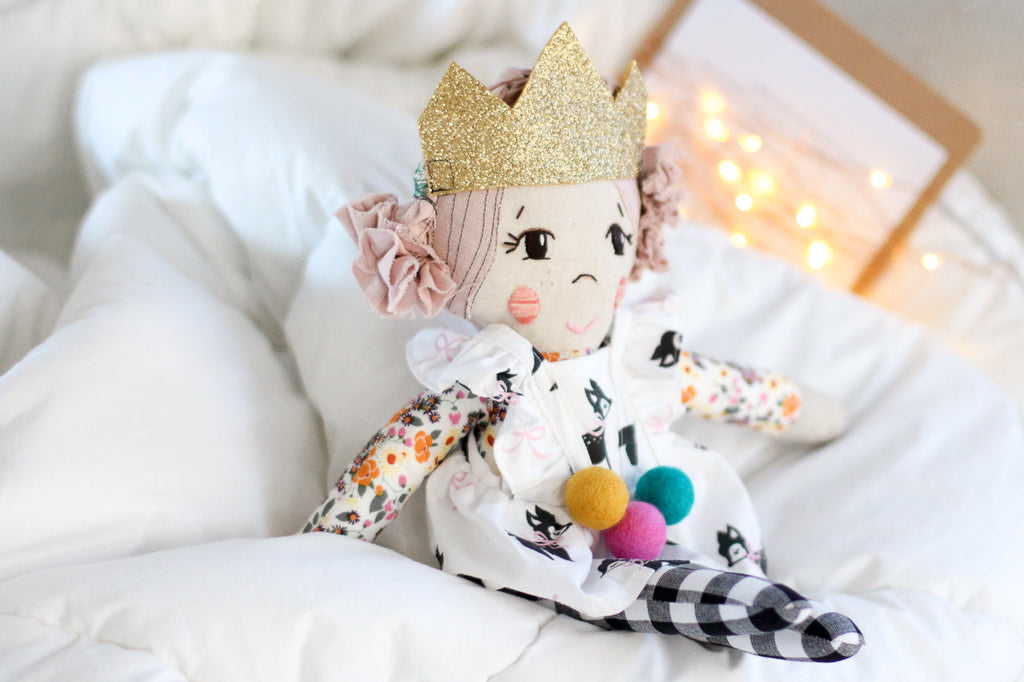 Elodie Handmade Cloth Doll
