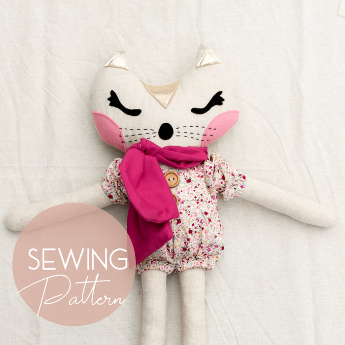 Croissant the Cat Sewing PDF Pattern