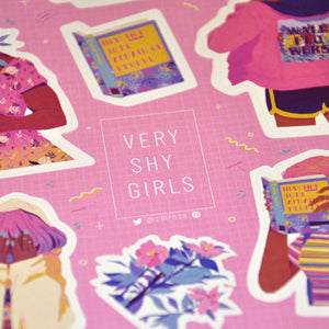 """Very Shy Girls"" Sticker"