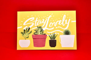 """Stay Lovely"" Postcard"