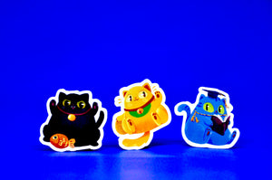"""Lucky Cats"" Sticker"